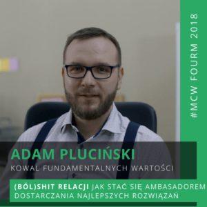 Adam Pluciński - Kowal Fundamentalnych Wartości